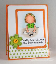 Pure Innocence Crafty Friends; Blueprints 5 Die-namics; Peek-a-Boo Dots Die-namics - Michele Boyer