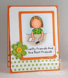 Pure Innocence Crafty Friends; Blueprints 5 Die-namics; Peek-a-Boo Dots Die-namics - Michele Boyer