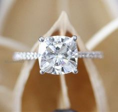 2Ct Cushion Cut Moissanite Solitaire Wedding Engagement Ring 925 Sterling Silver | Jewelry & Watches, Engagement & Wedding, Engagement Rings | eBay!