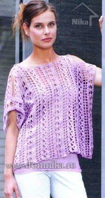 Openwork crochet cape for beginners