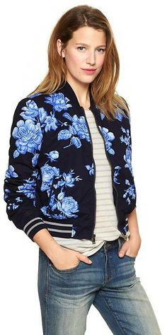GAP floral Bomber jacket $98