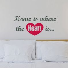 Home Decor Home is Where the Heart Is Words Up Stickers