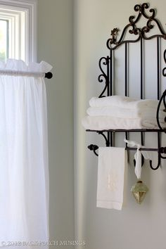 "Sherwin Williams ""Front Porch"" paint Country Curtains I love this paint color for a bathroom Decoration And Furniture, Porch Paint, Bathroom Decor, Big Bathrooms, Light Gray Paint, Iron Furniture, Beautiful Bathrooms, Wall Colors, Home Decor"