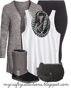 Women's Plus-size outfit - This is perfect for the cold weather that is on its way. Comfy!