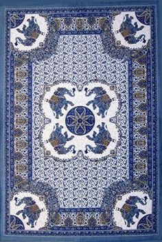 "Elephant Mandala Print Tapestry Tablecloth Bedspread Picnic blanket Cotton Queen 106"" x 106"""