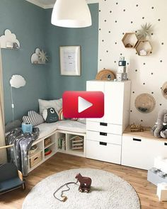 Home Decoration; Home Design; Little … Childrens Room; Home Decoration; Home Design; Little Kids Bedroom Ideas Childrens Decoration design Home painting room small Wall Cool Kids Rooms, Kids Room Paint, Creative Kids Rooms, Clever Kids, Kids Room Design, Home Design, Design Ideas, Interior Design, Playroom Design
