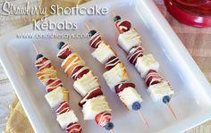 "Strawberry Shortcake Kabob Dessert DELICIOUS! @Mariel ""Maya"" @ ""Or so she says..."""