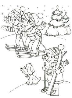 Omalovánka -Na lyžích