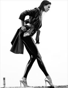 Karlie Kloss in Latex and Leather for Numéro #137 by Greg Kadel #fashion #editorial