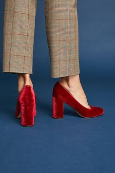 Franco Sarto Aziza Velvet Heels