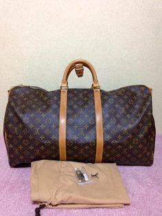 Louis Vuitton Keepall 55 Travel Bag.