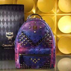MCM Medium Stark M Studded Backpack In Galaxy
