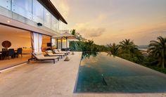 3-Bedroom Luxury Chaweng Seaview Villa --- from 615$ per night ---  Koh Samui Luxury Real Estate