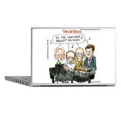 All The Nicks #Laptop #Skin by @LTCartoons #humor @cafepress #stevienicks #stevemartin #nicholascage @pinterest #gift #technology #gift #sale