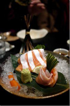 Asian food Japanese sushi Salmon belly sashimi