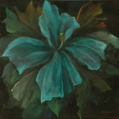 Brassai Gabi :Happiness is a blue flower oil on canvas