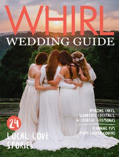 WHIRL Wedding Guide: Volume 11 (Spring/Summer 2015). / Photograph from @veronicavaros, taken at Stoney Creek Bed and Breakfast. Concept by Veronica Varos, Bliss Events, and @mtlebanonfloral. Models' hair & makeup by Hannah Conard Beauty. Dresses & fabric crown from @glitterngritpgh.