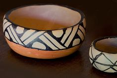 Pottery Painting Designs, Pottery Designs, Ceramic Bowls, Ceramic Pottery, Stoneware, Ceramic Painting, Ceramic Art, Native Drawings, Brazil Art
