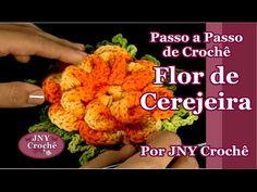 PAP Flor de Cerejeira | Remake | - JNY Crochê - YouTube