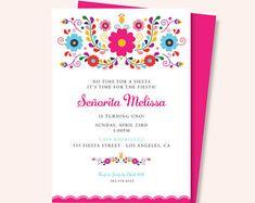 Invitación de cumpleaños Invitación de la Fiesta Mexicana