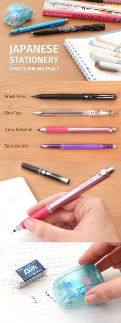 """In this guide, we'll explain why Japanese stationery consistently dominates """"best of"""" lists worldwide and show you some of our favorite Japanese pens and stationery. Japanese Pen, Japanese Style, Pencil Organizer, Organizers, Ink Pen Art, Stationary Supplies, Japanese Stationery, Passion Planner, Jet Pens"""