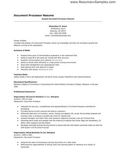 Pinterest  Resume For Clerical Position