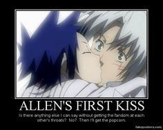 funny d. gray man demotivational | Allen Walker's First Kiss by Onikage108