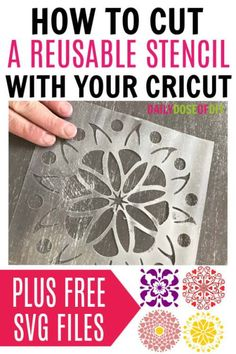 diy reusable stencil on Cricut explore