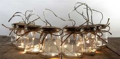 Shabby chic jar fairy lights