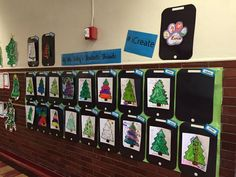 Paw prints and X-mas trees. What a wonderful combination!
