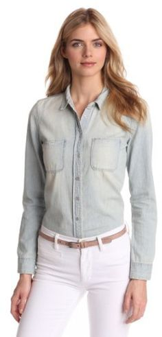 $59, Light Blue Denim Shirt: Calvin Klein Jeans Denim Shirt. Sold by Amazon.com. Click for more info: http://lookastic.com/women/shop_items/4150/redirect