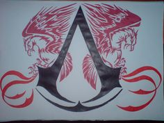 This is my Assassins Creed 2 logo board paiting that i made. It took me a while to find the logo. i used the one from the codex page 24 from AC only . Assassins Creed Tattoo, Assassins Creed Game, Best Assassin's Creed, Assasing Creed, Los Mejores Tattoos, Connor Kenway, 2 Logo, I Tattoo, Aurora Sleeping Beauty