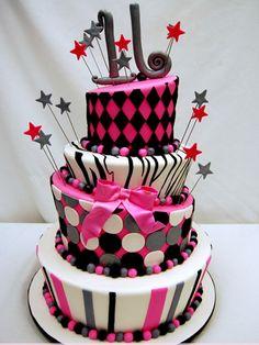 Modern Sweet 16 Cake Birthday Ideas, Best Birthday cake for girls