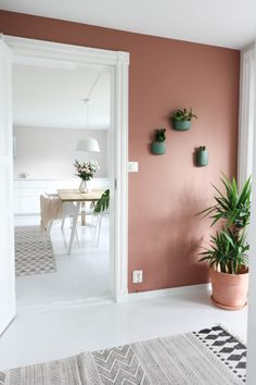 love the blush color on the walls, beautiful take on Scandinavian interiors Apartment Interior, Apartment Design, House Colors, Wall Colors, Blush Bedroom, Interior Styling, Interior Design, Room Color Schemes, Home And Living
