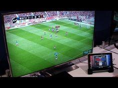 Realidade aumentada na televisão e no tablet.