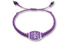 Sterling Silver Wisteria Braided Bracelet - Standard Emblem   Australia MedicAlert Foundation #medicalert #medical_ID #medical_bracelet #safety