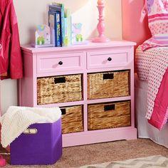 Kirklands Pink 6-Drawer Kids Storage Chest