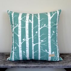 Birch Forest  Organic cotton screen printed by TheWiggleTree, $45.00