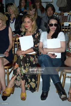 Photo d'actualité : Emmanuelle Beart and Beatrice Dalle attend the...