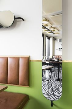 Inspired by the 60's design of  local cafes and bars in the Icelandic Capital, Haf Studio opt to extend the tradition into the new restaurant, providing a friendly atmosphere where interior design can positively influence new relations.