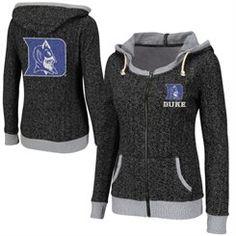 Duke Blue Devils Ladies Slope Full Zip Hoodie - Charcoal