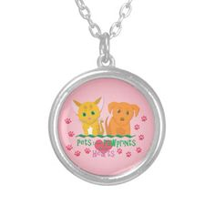 Pets Leave Pawprints on our Hearts Necklace #dogs #cats #kittens #pets #puppies