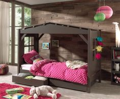 Pino house cabin bed in taupe in 2019 home детская кроватка, Kid Beds, Bunk Beds, Cabin Beds For Kids, Dream House Interior, Bed With Drawers, House Beds, Bed Storage, Home Bedroom, House Colors