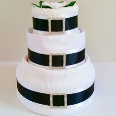 Our #1 Best Selling gifts are our 3 Tier Nappy Cakes...And you can't go wrong with classic black & white ♥⚪♥⚪♥  #ZoeyDeZigns #NappyCakes #NappyCake #DiaperCakes #DiaperCake #BabyHamper #BabyShower #BabyShowerGift #CorporateGift #PracticalGifts #PerfectGift #BestSeller #BabyGift #Bespoke #Baby #BabyBoy #BabyGirl #BlackAndWhite #Black #White #Nappies #MadeInAustralia #ShopMadeIt #EtsyShop #ShopEtsy #Delivered #AustraliaWide #Sydney #Melbourne