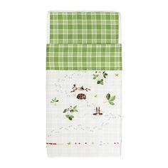 IKEA - VANDRING IGELKOTT, Crib duvet cover/pillowcase, , Cotton is soft and feels nice against your child's skin.