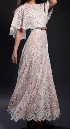 Vintage 1970s Lilli Diamond lace wedding dress