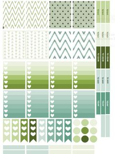 Free Printable Erin Condren Sticker green and blue