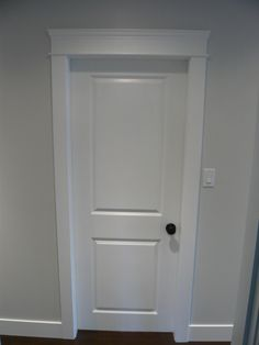 Updated door and door casings by Northern Concepts & Craftsman Door Trim Molding Styles | How to Transition Wainscoting ... Pezcame.Com