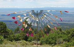 prayer flags | Straw bale house at The Lama Foundation and prayer flags