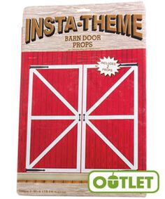 HayDay VBS | Barn Door Props | Perfect addition to the Red Barn Plastic Backdrop or as an entrance to your VBS. #VBS